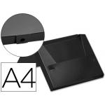 Carpeta Beautone portadocumentos broche polipropileno tamaño A4 color negro lomo de 40 mm