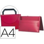 Carpeta Beautone portadocumentos broche polipropileno tamaño A4 color roja con asa