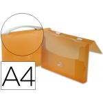 Carpeta Beautone portadocumentos broche polipropileno tamaño A4 naranja transparente