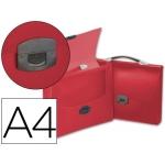 Carpeta Beautone portadocumentos broche polipropileno tamaño A4 roja transparente con asa