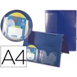 Carpeta Beautone portadocumentos gomas polipropileno tamaño A4 color azul lomo de 25 mm 2 disketteras