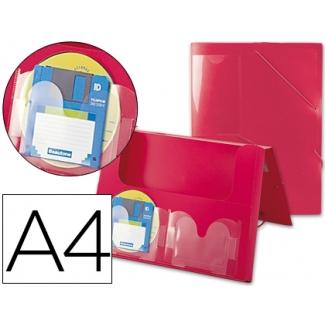 Liderpapel 036990 - Carpeta portadocumentos, lomo rígido de 25 mm, polipropileno, A4, color rojo