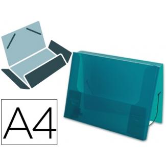 Liderpapel - Carpeta portadocumentos, lomo rígido de 25 mm, polipropileno, A4, color verde translúcido
