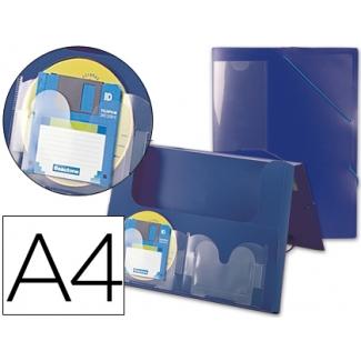 Liderpapel 036902 - Carpeta portadocumentos, lomo rígido de 50 mm, polipropileno, A4, color azul