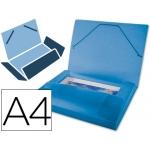 Carpeta Beautone portadocumentos polipropileno tamaño A4 color azul serie frosty lomo 25 mm