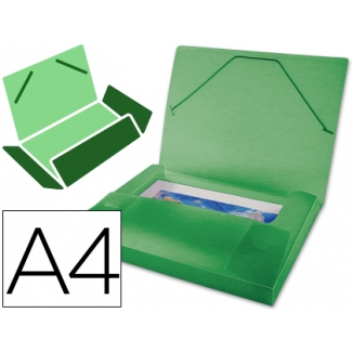 Carpeta Beautone portadocumentos polipropileno tamaño A4 color verde serie frosty lomo 25 mm