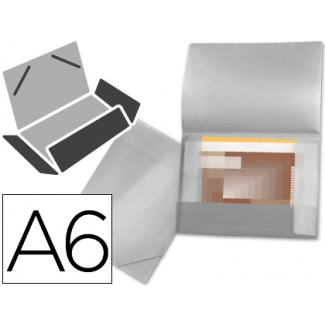 Carpeta Beautone portadocumentos solapas polipropileno tamaño A6 color incolora serie frosty lomo flexible