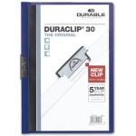 Carpeta Duraclip dossier pinza lateral color azul oscuro capacidad 30 hojas