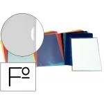 Esselte 46015 - Dossier uñero, Folio, 110 micras, capacidad para 30 hojas, color trasparente