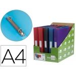 Carpeta Liderpapel 2 anillas 15 mm mixtas polipropileno tamaño A4 colores surtidos