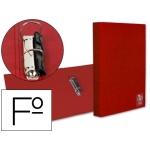Carpeta Liderpapel 2 anillas 25 mm mixtas plástico tamaño folio color roja