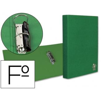 Carpeta Liderpapel 2 anillas 25 mm mixtas plástico tamaño folio color verde