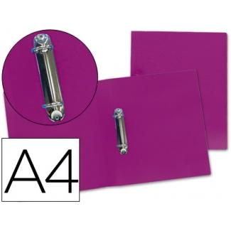 Carpeta Liderpapel 2 anillas mixtas 25 mm polipropileno tamaño A4 color violeta serie frosty
