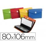 Carpeta Liderpapel clasificador de tarjetas plástico para 40 tarjetas 80x106 mm 5 colores surtidos