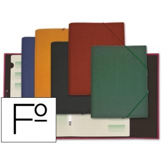 Carpeta Liderpapel clasificadora cartón forrado ozono tamaño folio colores surtidos