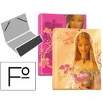 Carpeta Liderpapel clasificadora fantasía cartón forrado solapa barbie