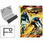 Carpeta Liderpapel clasificadora fantasía cartón forrado solapa k-bike