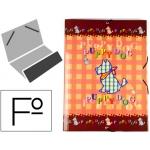 Carpeta Liderpapel clasificadora fantasía cartón forrado solapa puppy