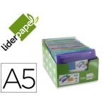 Carpeta Liderpapel clasificadora fuelle tamaño A5 polipropileno 13 departamentoscolores color surtidos