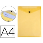 Carpeta Liderpapel dossier broche polipropileno tamaño A4 formato vertical amarilla transparente