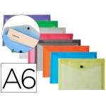 Carpeta Liderpapel dossier broche polipropileno tamaño A6 12 colores surtidos