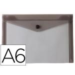 Carpeta Liderpapel dossier broche polipropileno tamaño A6 negro transparente