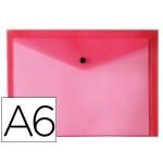 Carpeta Liderpapel dossier broche polipropileno tamaño A6 rojo transparente