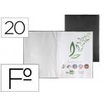 Carpeta Liderpapel escaparate 20 fundas pvc tamaño folio color negro