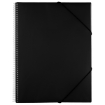 Carpeta Liderpapel escaparate con espiral 20 fundas polipropileno tamaño A4 color negro