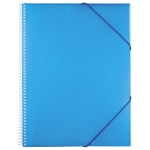 Carpeta Liderpapel escaparate con espiral 20 fundas polipropileno tamaño A5 color azul