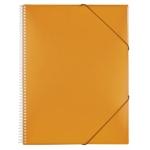 Liderpapel EC46 - Carpeta con fundas, encuadernada con espiral, tapa rígida, A5, 20 fundas, color naranja