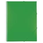Carpeta Liderpapel escaparate con espiral 30 fundas polipropileno tamaño A4 color verde