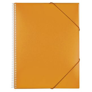 Carpeta Liderpapel escaparate con espiral 40 fundas polipropileno tamaño A4 color naranja