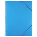 Carpeta Liderpapel escaparate con espiral 50 fundas polipropileno tamaño A4 color azul