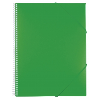 Liderpapel EC19 - Carpeta con fundas, encuadernada con espiral, tapa rígida, A4, 50 fundas, color verde