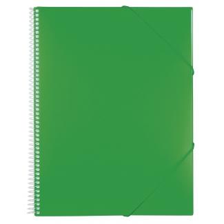 Liderpapel EC23 - Carpeta con fundas, encuadernada con espiral, tapa rígida, A4, 60 fundas, color verde
