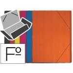 Carpeta Liderpapel gomas plástico tamaño folio solapas coloressurtidos