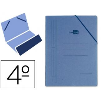 Carpeta Liderpapel gomas tamaño cuarto bolsa cartón compacto azul