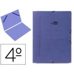 Carpeta Liderpapel gomas tamaño cuarto sencilla cartón pintado color azul
