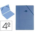 Carpeta Liderpapel gomas tamaño cuarto sencillacartón compacto color azul
