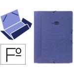Liderpapel CG01 - Carpeta de cartón con gomas, con tres solapas, tamaño folio, color azul