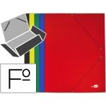 Liderpapel CG57 - Carpeta de cartón con gomas, con tres solapas, tamaño folio, colores surtidos