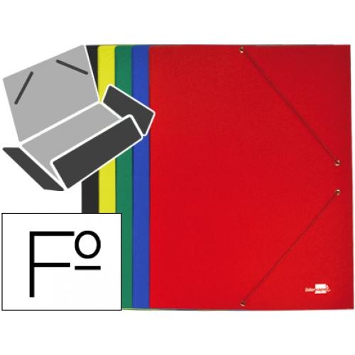 Carpeta liderpapel gomas tama o folio 3 solapas cart n for Que significa oficina
