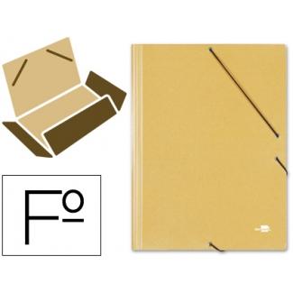 Liderpapel CG24 - Carpeta de cartón con gomas, con tres solapas, tamaño folio, color amarillo
