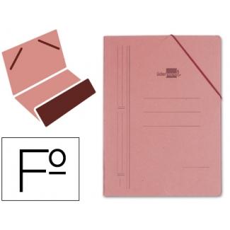 Carpeta Liderpapel gomas tamaño folio bolsa cartón compacto cuero