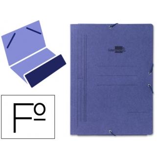 Liderpapel CG02 - Carpeta de cartón con gomas, con una solapa, tamaño folio, color azul