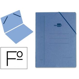 Liderpapel CG09 - Carpeta de cartón con gomas, sin solapas, tamaño folio, color azul