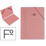 Carpeta Liderpapel gomas tamaño folio sencilla cartón compacto cuero