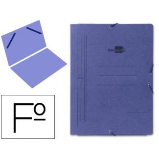 Liderpapel CG03 - Carpeta de cartón con gomas, sin solapas, tamaño folio, color azul