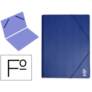 Carpeta Liderpapel gomas tamaño folio sencilla pvc color azul